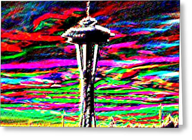 Sunset Needle 2 Greeting Card by Tim Allen