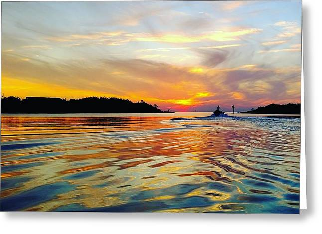 Sunset Net Check Greeting Card