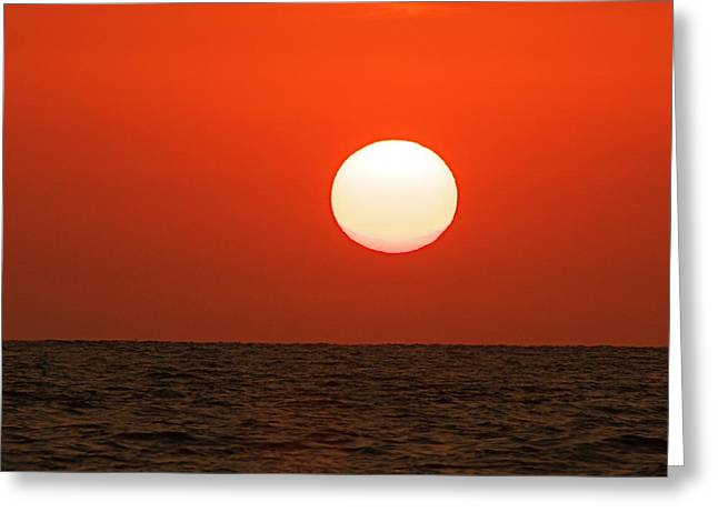 Greeting Card featuring the photograph Sunset by Nicola Fiscarelli