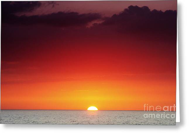 Sunset North Shore Greeting Card