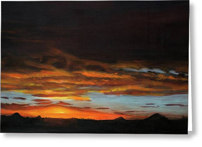 Sunset Northern Cape Greeting Card