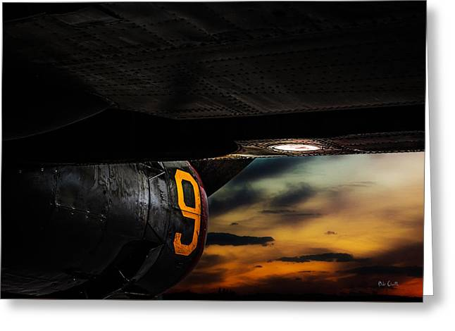 Sunset Number 9 Consolidated B-24 Liberator Greeting Card by Bob Orsillo