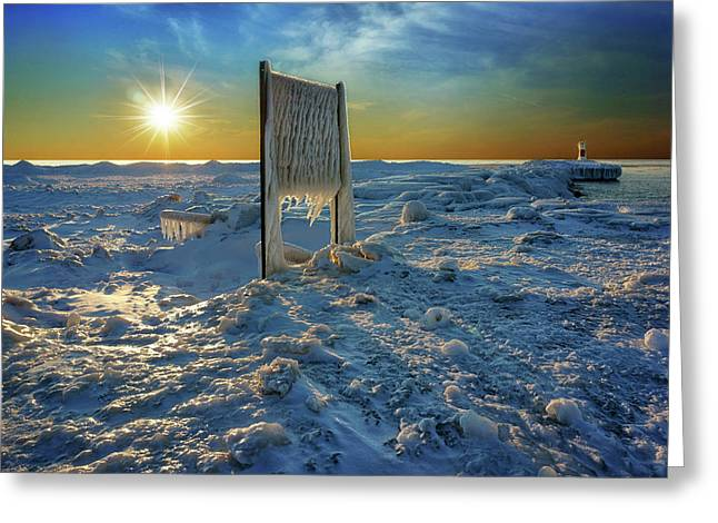 Sunset Of Frozen Dreams Greeting Card