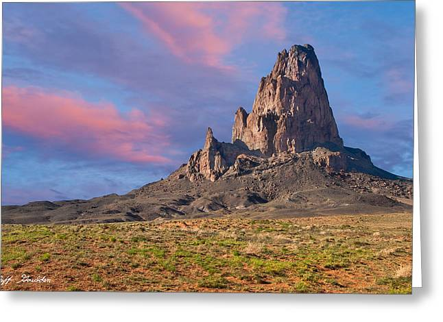 Sunset On Agathla Peak Greeting Card