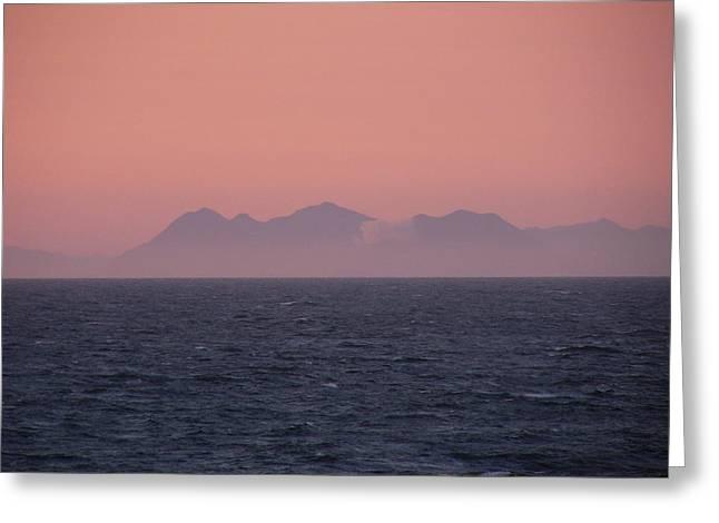 Sunset On Alaska Greeting Card