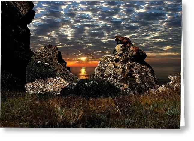 Sunset On Azov Greeting Card by Yuri Hope