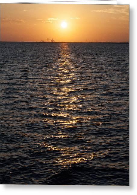 Sunset On Bay Greeting Card