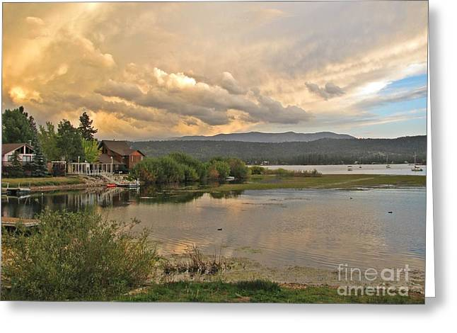 Sunset On Big Bear Lake Greeting Card by Traci Lehman