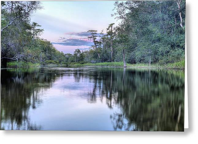 Sunset On Bubbling Creek. Greeting Card by JC Findley