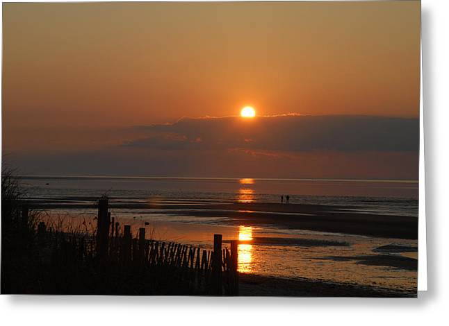 Greeting Card featuring the photograph Sunset On Cape Cod by Alana Ranney