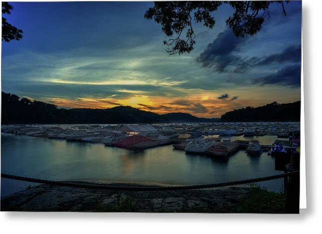 Sunset On Cheat Lake Greeting Card