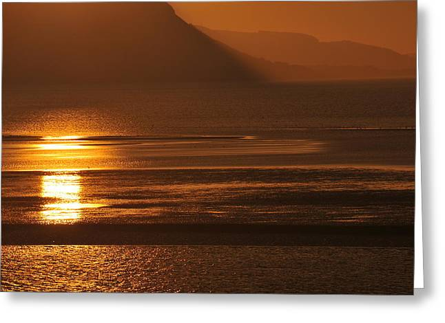 Sunset On Coast Of North Wales Greeting Card by Harry Robertson