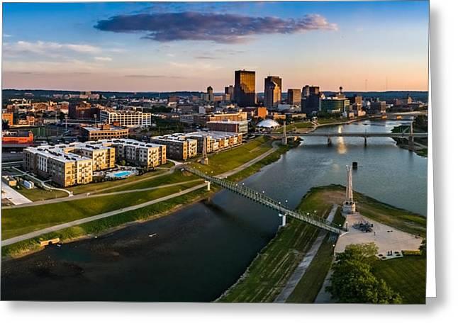 Sunset On Dayton Greeting Card