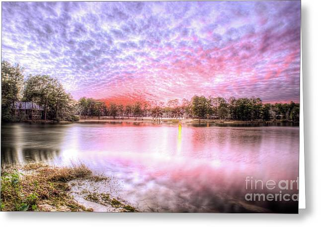 Sunset On Flint Creek Greeting Card