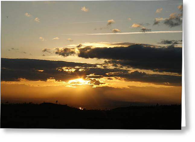 Sunset On Hwy 32 Greeting Card