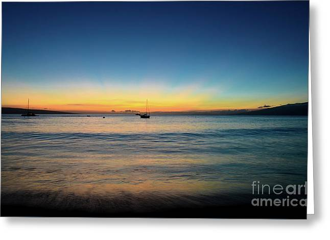 Greeting Card featuring the photograph Sunset On Ka'anapali Beach by Kelly Wade