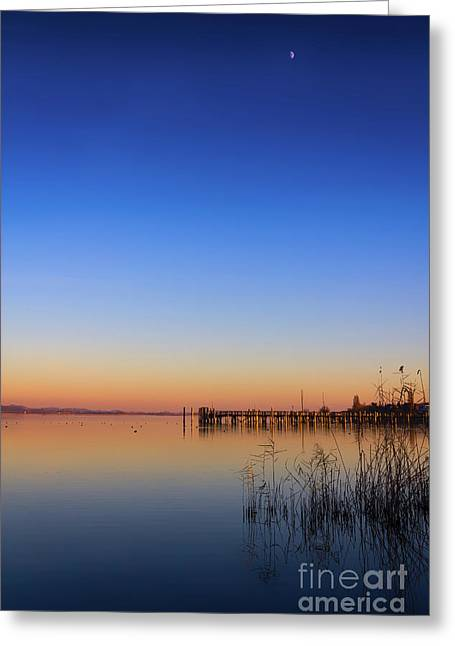 Sunset On Lake Constance II Greeting Card by Bernd Laeschke