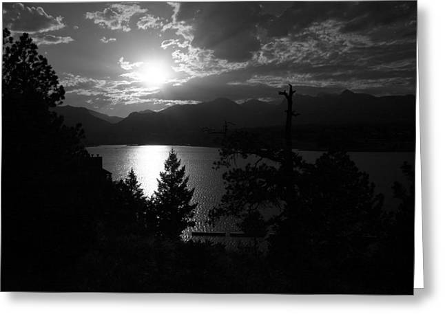 Sunset On Lake Estes Greeting Card