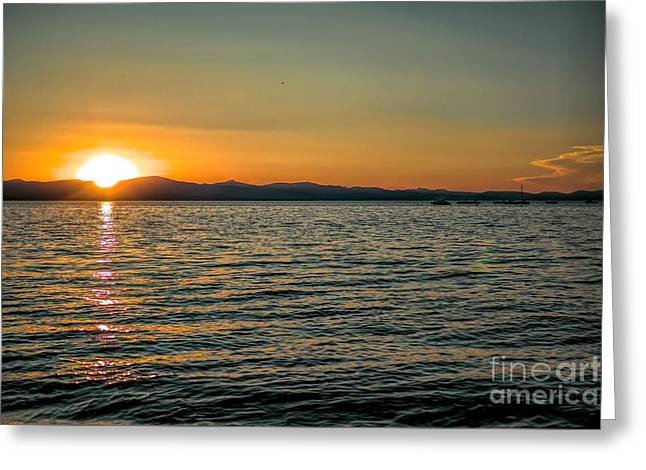 Sunset On Left Greeting Card
