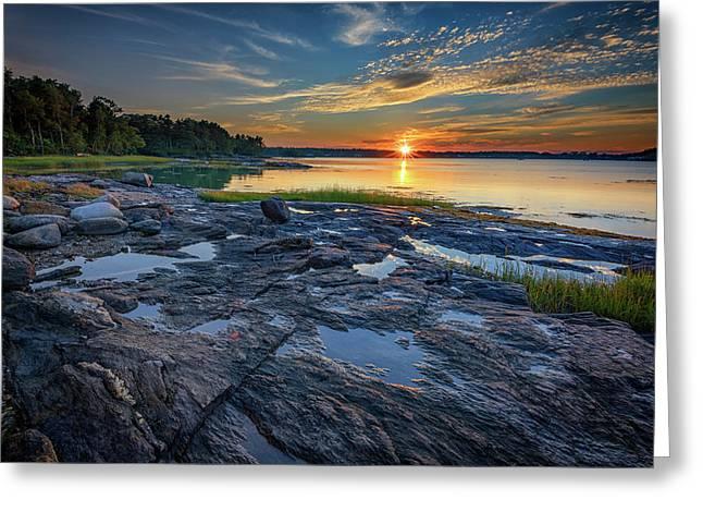 Sunset On Littlejohn Island Greeting Card
