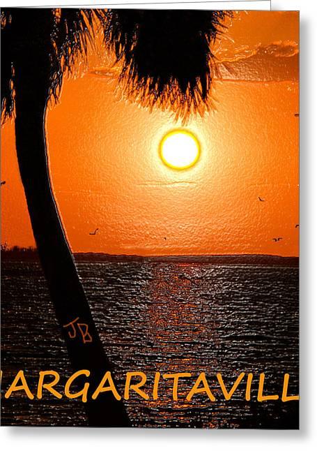 Sunset On Margaritaville Greeting Card by David Lee Thompson