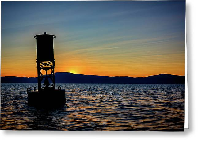 Sunset On Penobscot Bay Greeting Card