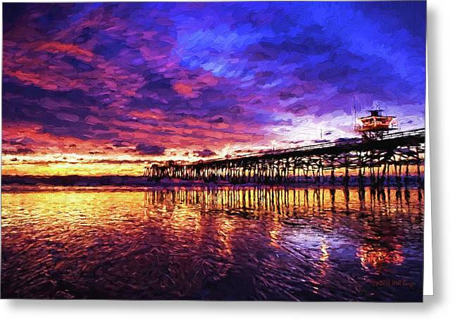 Sunset On San Clemente, Nbr 1c Greeting Card by Will Barger