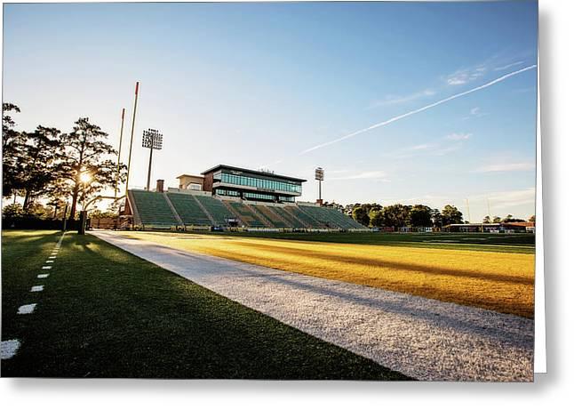Sunset On Strawberry Stadium Greeting Card