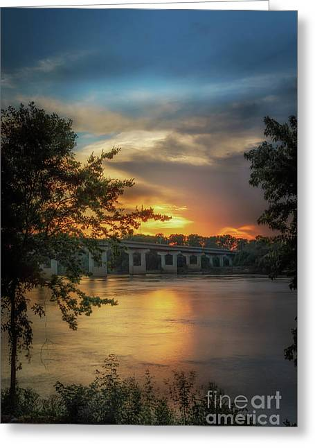 Sunset On The Arkansas Greeting Card
