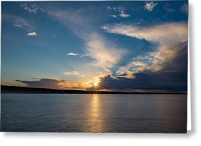 Sunset On The Baltic Sea Greeting Card