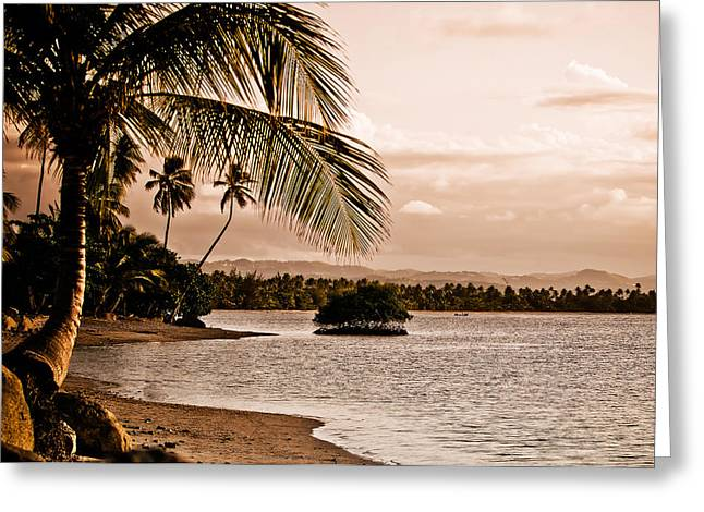 Sunset On The Bay 2 Greeting Card by Mark Bradley