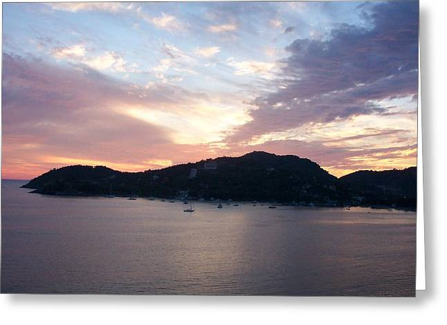 Sunset On The Bay Greeting Card by James Johnstone