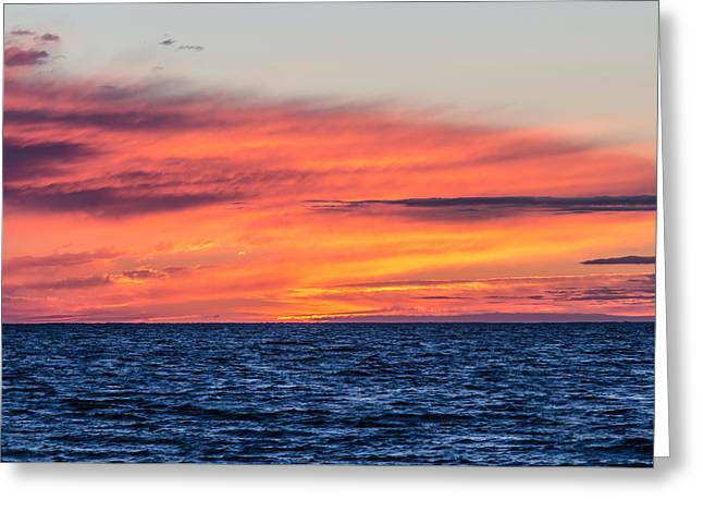 Sunset On The Bay Greeting Card