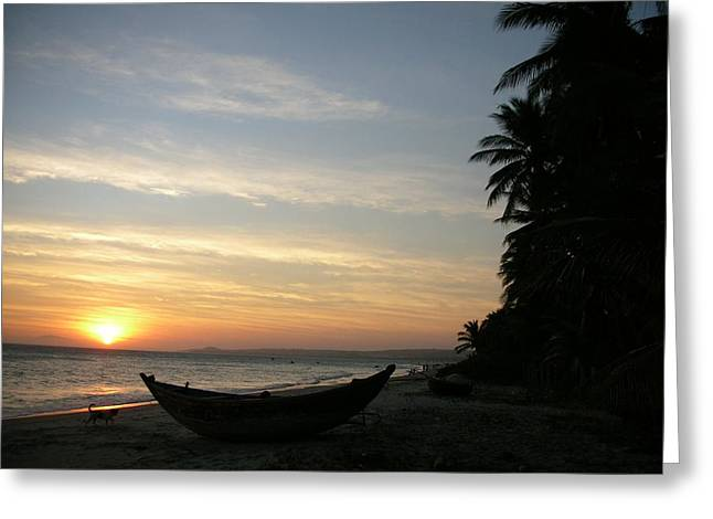 Sunset On The Beach In Vietnam Greeting Card