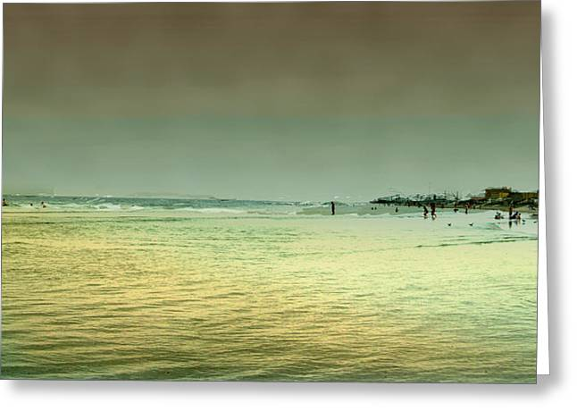Sunset On The Beach Greeting Card by Ken Gimmi