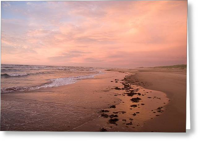 Sunset On The Beach On Prince Edward Greeting Card