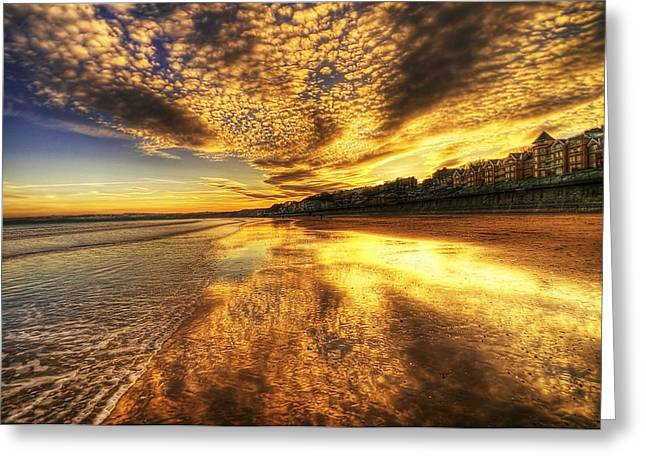 Sunset On The Beach Greeting Card by Svetlana Sewell