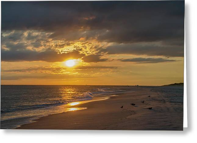 Sunset On The Cape Greeting Card by Bill Cannon