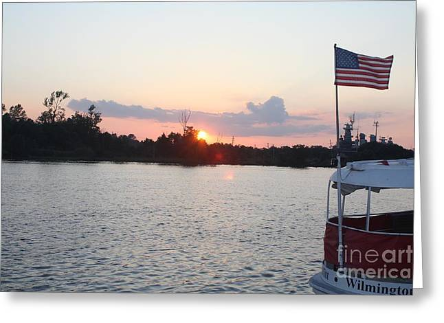 Sunset On The Cape Fear River North Carolina Greeting Card