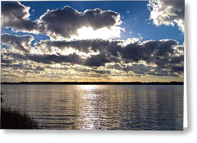 Sunset On The Cape Fear River Greeting Card