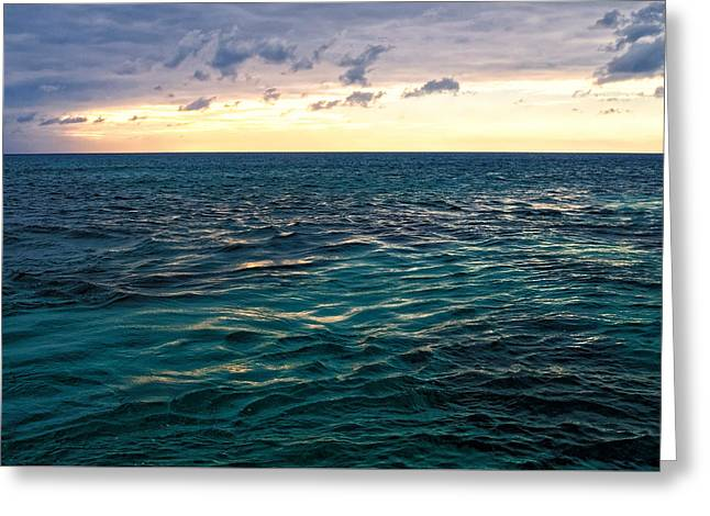 Sunset On The Caribbean Greeting Card by Lars Lentz
