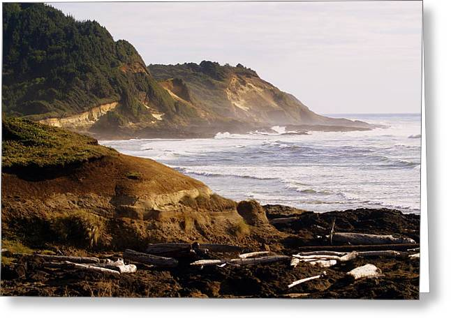 Sunset On The Coast Greeting Card by Marty Koch