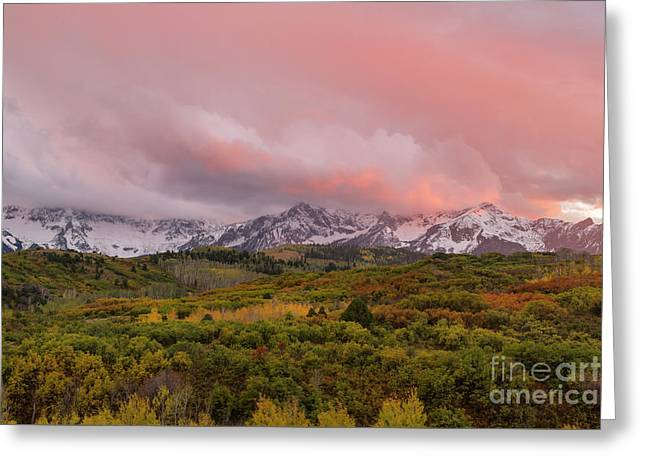 Sunset On The Dallas Divide Ridgway Colorado Greeting Card