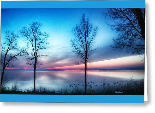 Sunset On The Diagonal Greeting Card