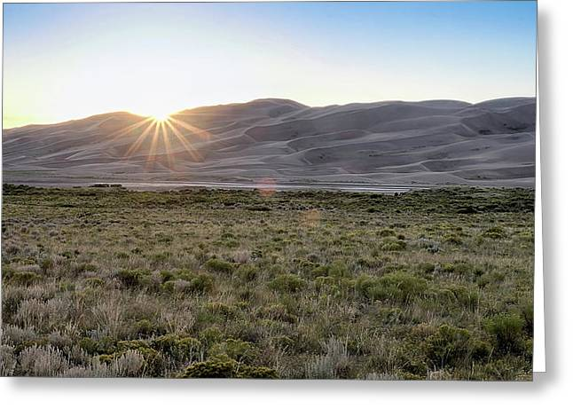Greeting Card featuring the photograph Sunset On The Dunes by Monte Stevens