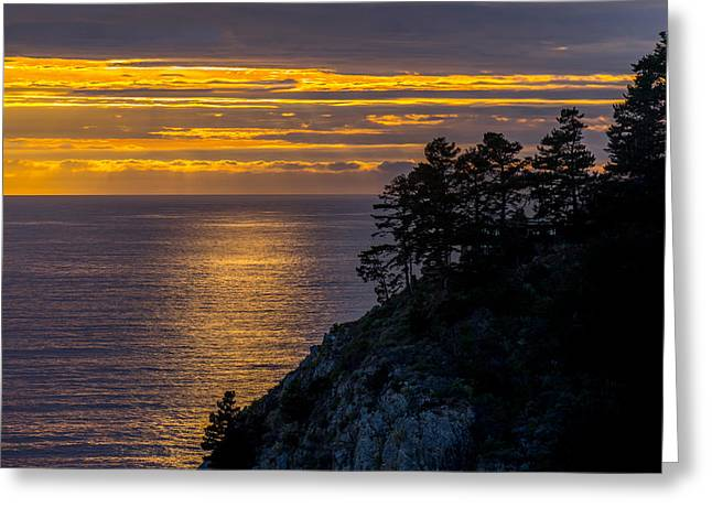 Sunset On The Edge Greeting Card