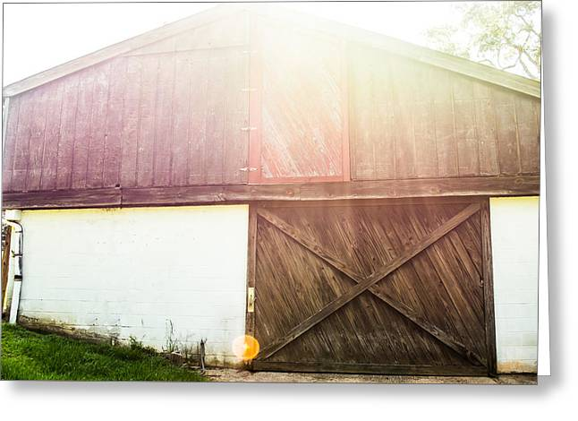 Sunset On The Farm Greeting Card by Shelby  Young