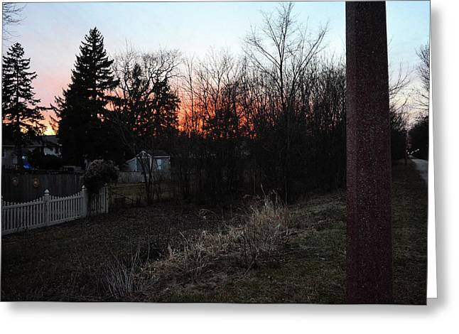 Greeting Card featuring the relief Sunset On The Great Western Trail by Jeanette O'Toole