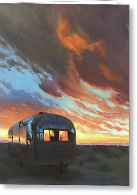 Sunset On The Mesa Greeting Card