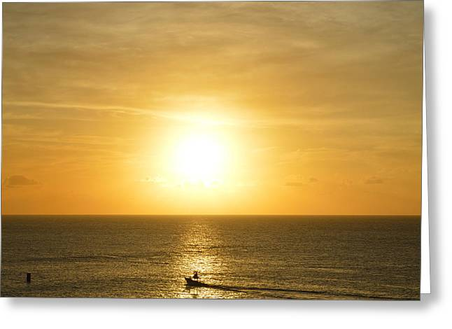 Sunset On The Mexican Riviera Greeting Card